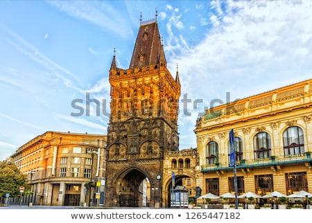 Towers in Prague Stock photo © elxeneize