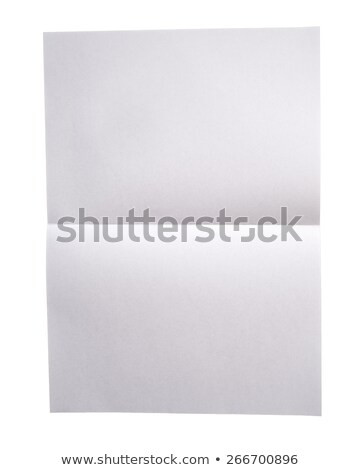 Blank lined vintage A4 paper isolated on white. Stock photo © latent