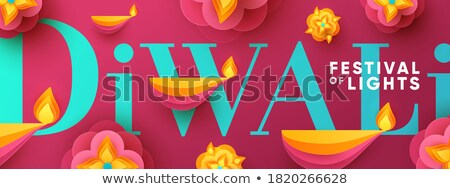 abstract colorful diwali template Stock photo © pathakdesigner