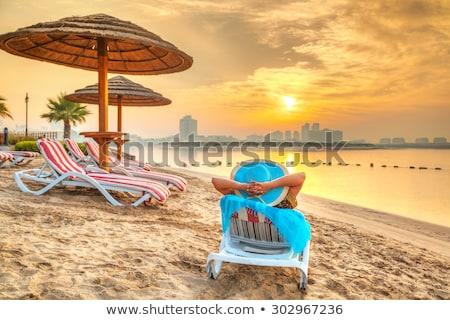 dubai sea and beach beautiful sunset at the beach stock photo © bloodua