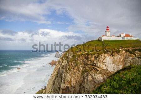 Stormy Day at Guincho Beach in Cascais near Lisbon, Portugal Stock photo © anshar