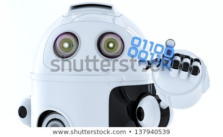 android robot holding piece of binary code stock photo © kirill_m
