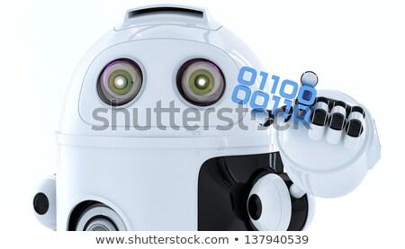 Android robot parça ikili kod yazılım Stok fotoğraf © Kirill_M