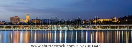 Malaga katedral dok görmek yeni arkasında Stok fotoğraf © BigKnell