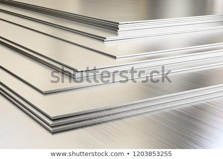 Foto stock: Metal · folha · enferrujado · parede · abstrato · fundo