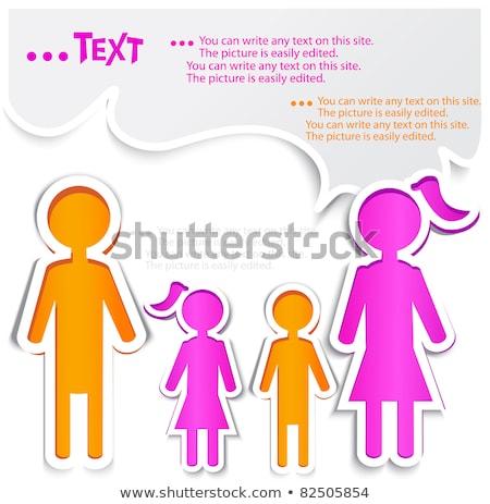 Stock photo: colorful family dialog balloons