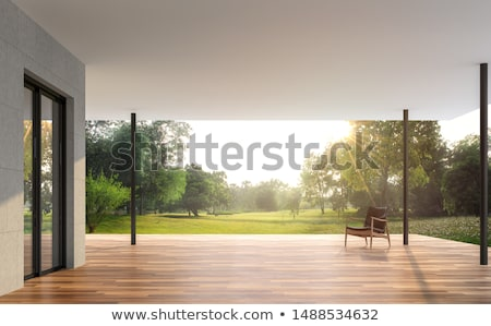 view to the green background from terrace Stock photo © taviphoto
