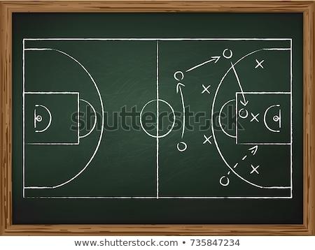 Basketball Strategy Plan Stock photo © burakowski