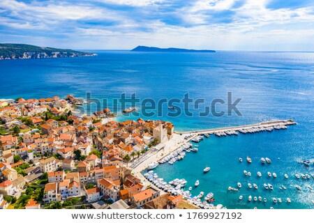Croatie · belle · paysage · port · plage · ciel - photo stock © trala
