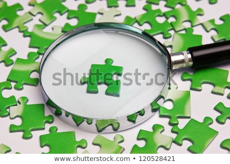 Answer Concept with Magnifying Glass. Stock photo © tashatuvango