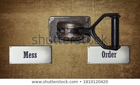 Para vs caos signo ilustración guerra Foto stock © burakowski