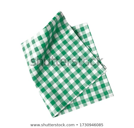 Green Checkered Tablecloth Stock photo © Lightsource