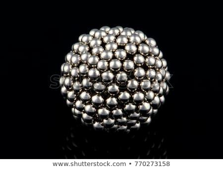 Magneet bollen 3D gegenereerde foto metaal Stockfoto © flipfine