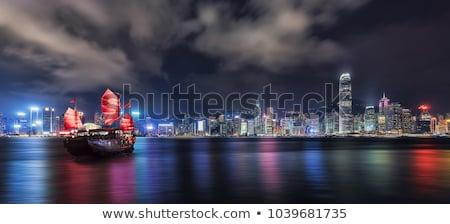 Hong · Kong · puerto · turísticos · oficina · edificio - foto stock © meinzahn