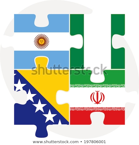 Bosnia Herzegovinan and Nigerian Flags in puzzle stock photo © Istanbul2009