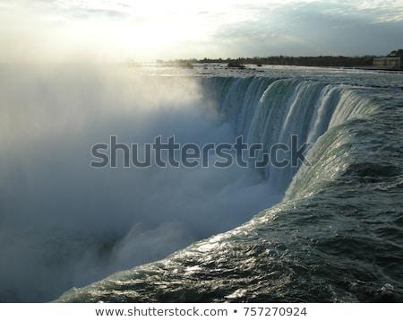 Niagara Falls water vallen rand natuur Stockfoto © Hofmeester