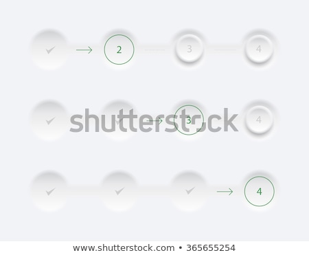 Stock photo: Website progess bar with four steps