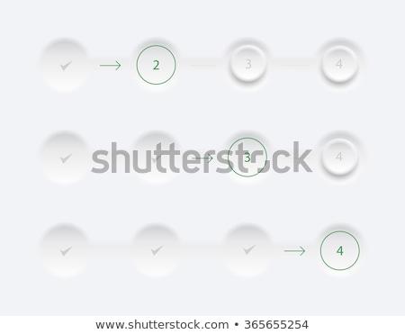trois · rectangle · étapes · couleur · boîte · rouge - photo stock © liliwhite