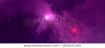 sun and space on black star space background stock photo © m_pavlov