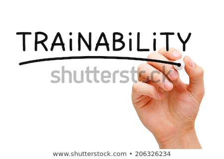 Trainability Black Marker Stock photo © ivelin