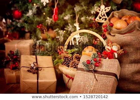 赤 紙袋 装飾された ベリー ベクトル 幸せ ストックフォト © almoni