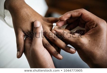 Evlilik altın alyans yalıtılmış beyaz sevmek Stok fotoğraf © grechka333