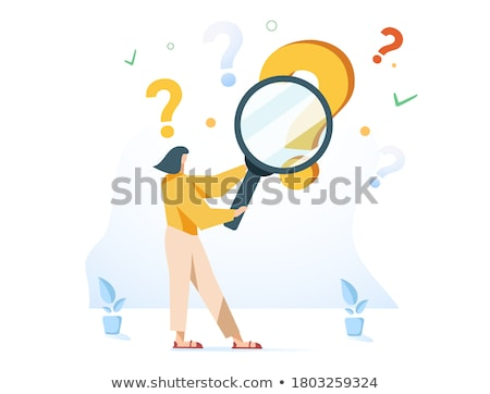 Analytics through Magnifying Glass. Stock photo © tashatuvango