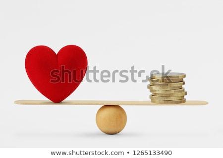 soldi · amore · tre · luminoso · oro - foto d'archivio © 3mc