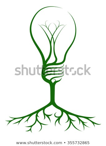 light bulb on the tree and root stock photo © rufous