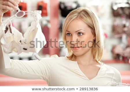 mulher · escolher · mulher · jovem · desgaste · branco · guarda-roupa - foto stock © RossHelen