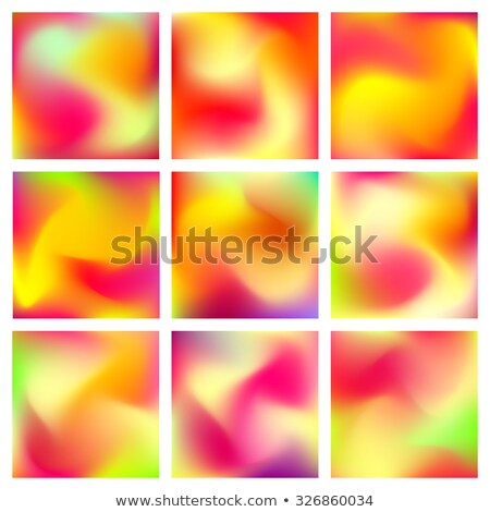 set of banners with blurred background of yellow bananas vector design stock photo © maximmmmum