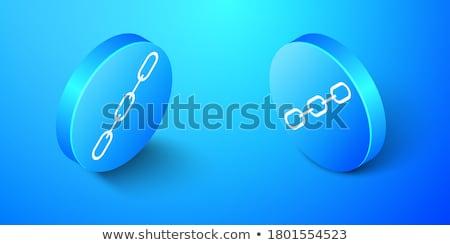 Beschermd link Blauw vector icon knop Stockfoto © rizwanali3d