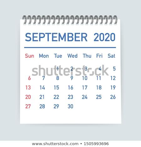 September Calendar Blank Page Stock photo © stevanovicigor