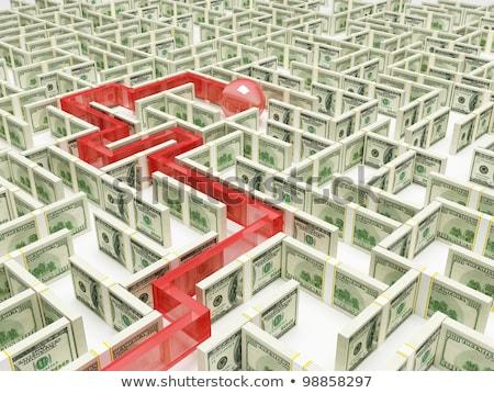 Dług ulga czerwony puzzle biały działalności Zdjęcia stock © tashatuvango