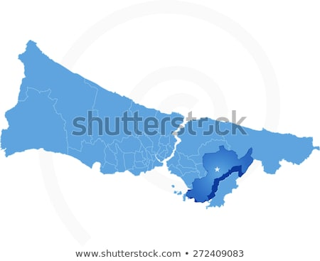 Istanbul Map with administrative districts where Pendik is pulle Stock photo © Istanbul2009