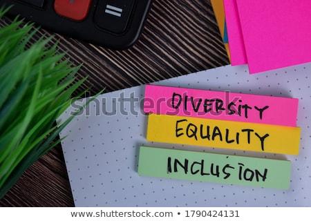 Równość niebieski różowy papieru tablicy kobieta Zdjęcia stock © pedrosala