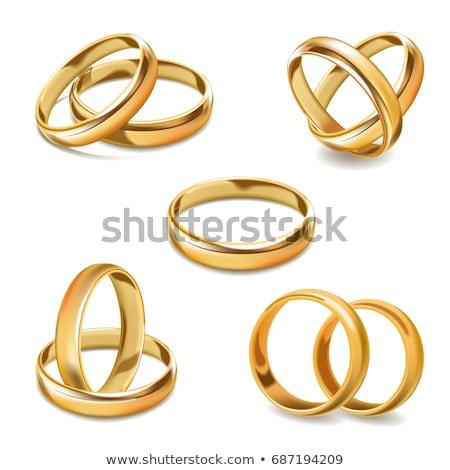 2 リング 結婚式 孤立した 白 ストックフォト © vtls