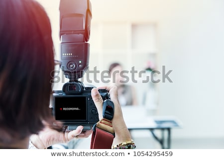 Kamera flaş modern refleks yalıtılmış beyaz Stok fotoğraf © vtls