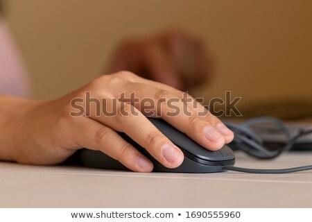 Számítógép egér kéz izolált fehér Stock fotó © Givaga