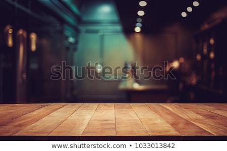 Bulanık barista kafe bulanıklık Retro filtre Stok fotoğraf © happydancing