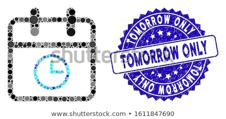 Niebieski karteczki wektora ikona projektu cyfrowe Zdjęcia stock © rizwanali3d