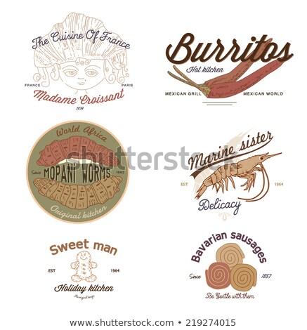 étterem menü terv édes paprikák vektor Stock fotó © balasoiu