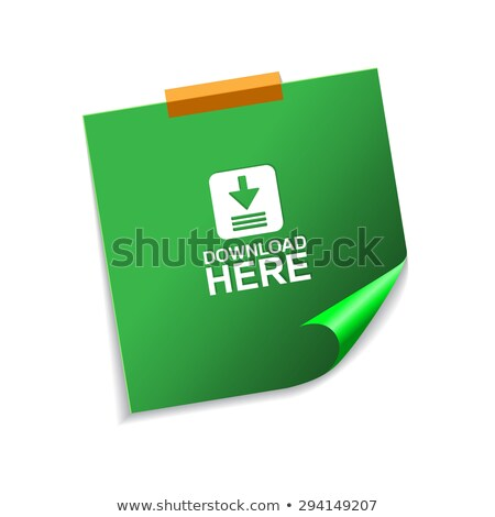 download here vector green sticky notes web icon set button stock photo © rizwanali3d
