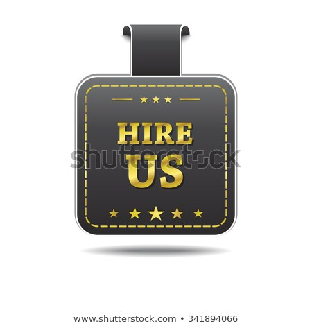 Hire Us golden Vector Icon Design stock photo © rizwanali3d