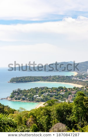 Hat Kata Karon Viewpoint in Phuket island Stock photo © Yongkiet