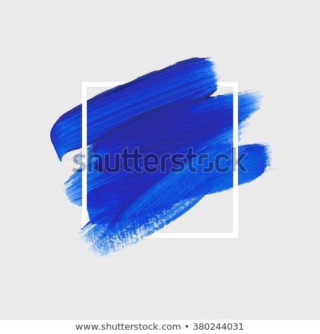 Blue acrylic paint vector banner Stock photo © gladiolus