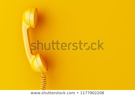 Vintage phone receiver on white Stock photo © Valeriy