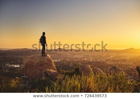 молодые · кавказский · человека · рюкзак · Постоянный · Top - Сток-фото © master1305