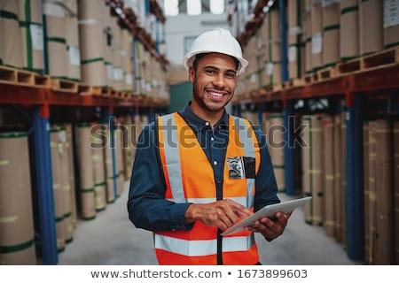depo · müdür · dijital · tablet · Internet · adam - stok fotoğraf © wavebreak_media