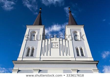 Renovated church in Vanovice Stock photo © CaptureLight